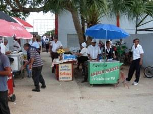 Vendors at the Artemisa ballpark.