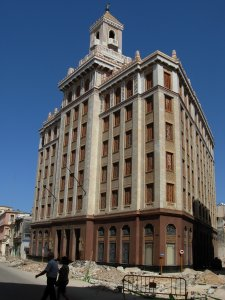 the Bacardi Building, Havana.