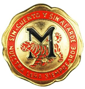 Marianao team pin, with slogan.