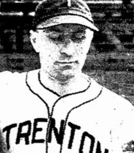 Bill Sisler with the Trenton Giants, one of 50 teams he played for.